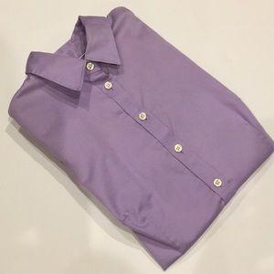 Banana Republic Tailored Purple Button Down Shirt